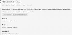 WordPress aktualizacje